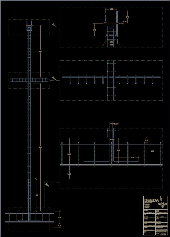 نقشه ی سازه دقیق ویلایی در شمال - استودیو معماری دیدآ