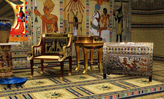 فضای داخلی به سبک مصری