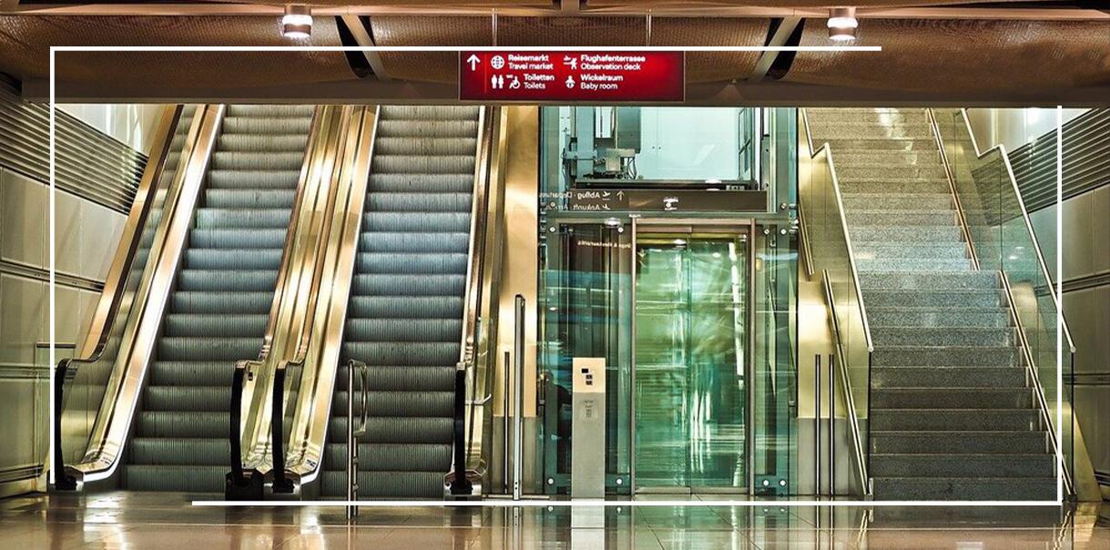 ترکیب پله برقی و آسانسور