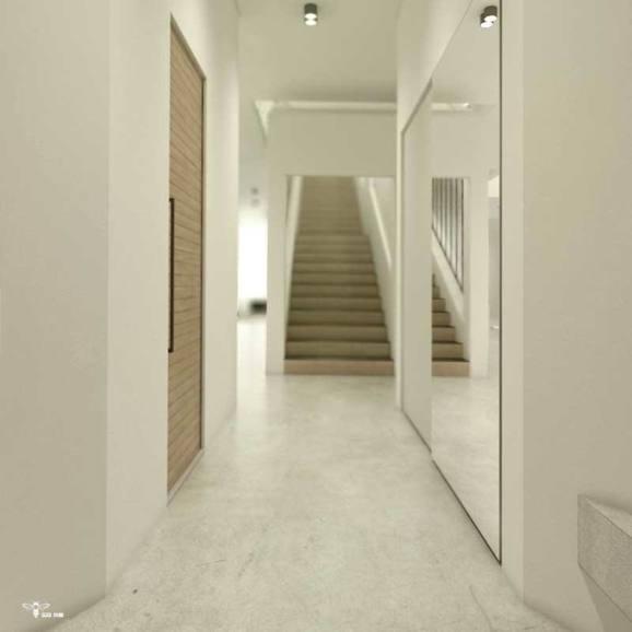 فضای ورودی ، راه پله ، کمد دیواری ـ سرویس بهداشتی جلو درب ورودی - طراحی معماری - استودیو معماری دیدآ