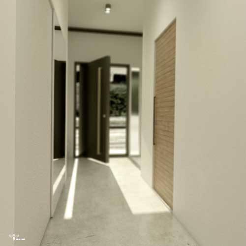 درب بازشو پیووت و و فضای ورودی آن طراحی معماری توسط استودیو معماری دیدآ
