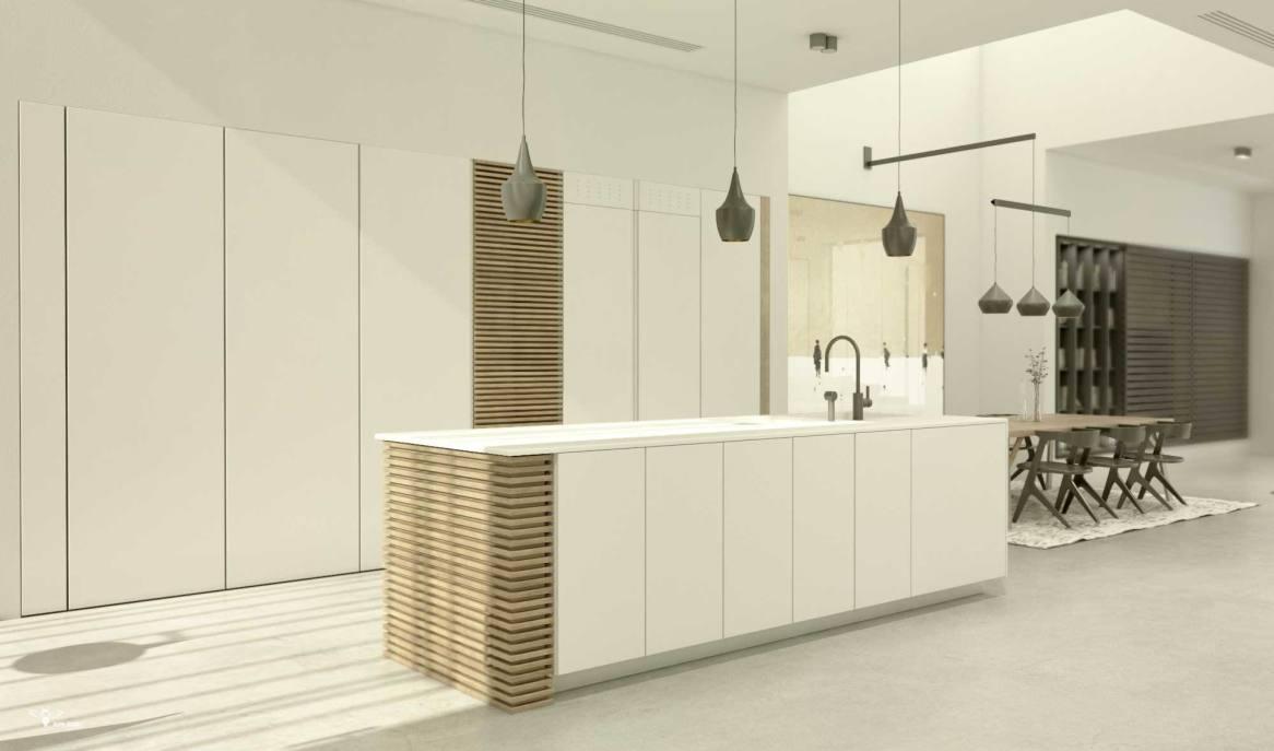 کابینت آشپزخانه مدرن طراحی شده توسط استودیو معماری دیدآ
