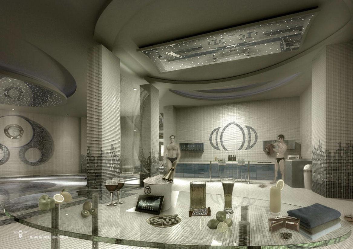 طراحی و ساخت کابینت داخل استخر با طراحی خاص توسط استودیو معماری دیدآ