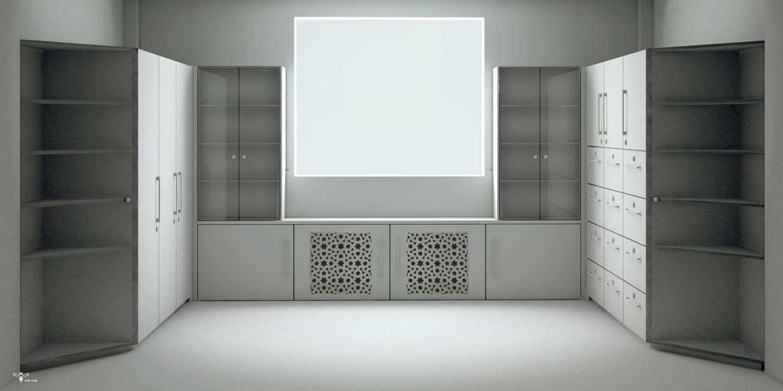 ماکت طراحی شده جهت فایل های اداری و کمد های آن ( استودیو معماری دیدا )