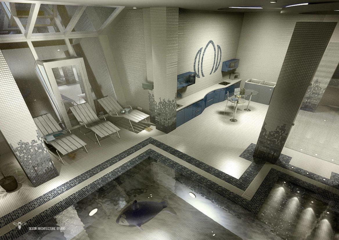 فضای ایجاد شده توسط استودیو معماری دیدآ جهت آفتاب گیری توسط استودیو معماری دیدآ با دماغه دادن به استراکچر فلزی سمت حیاط