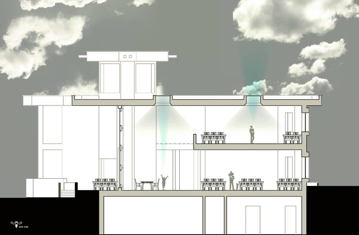 طراحی روشندان های رستوران نوای کویر توسط استودیو معماری دیدآ