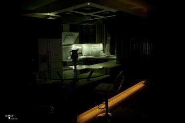 نورپردازی خاص زیر اپن آشپزخانه (استودیو معماری دیدآ )