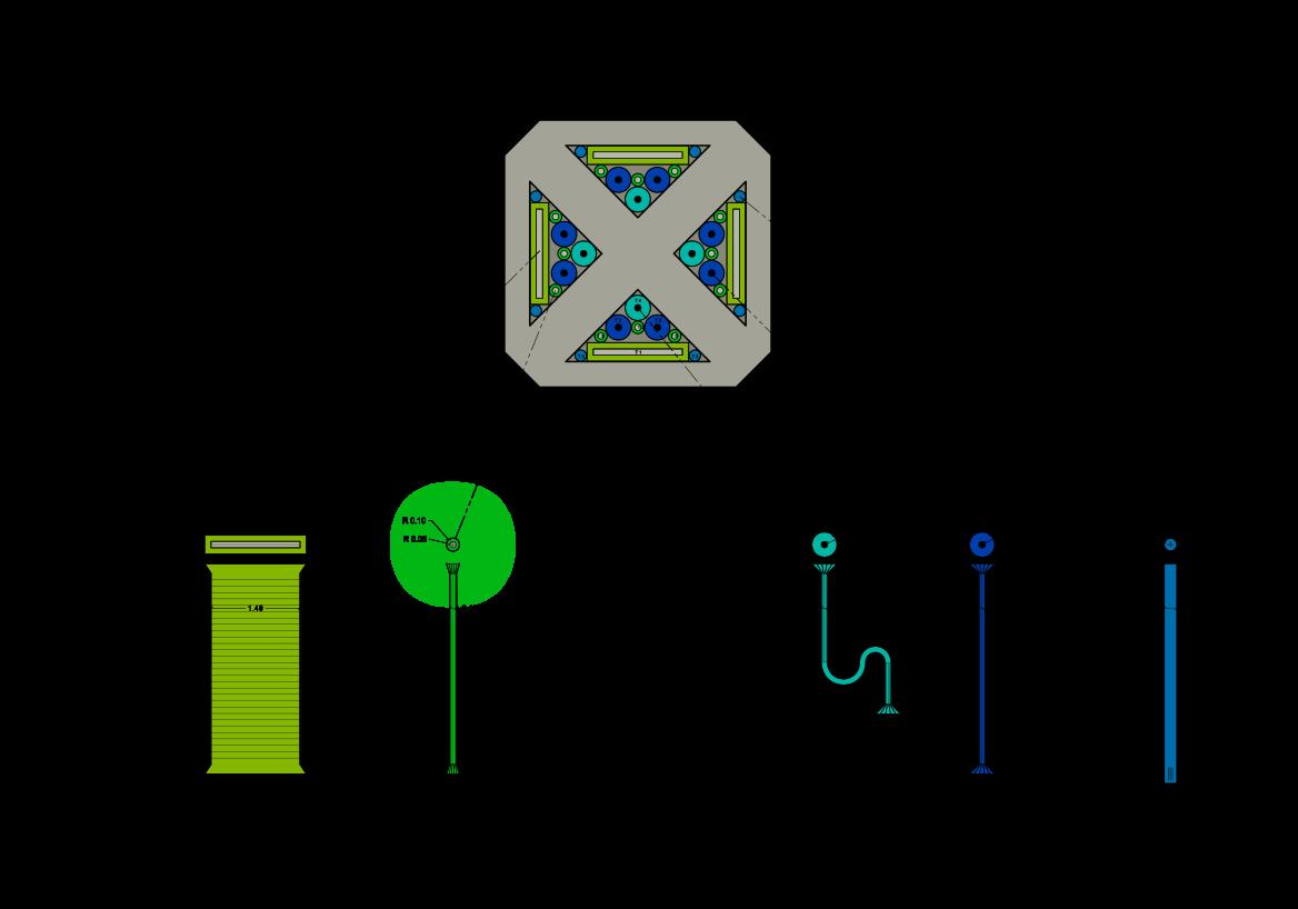 استودیو معماری دیدآ : طراحی این چهار بادگیر مستقر شده در چهار گوشه ی حیاط میانی به گونه ای صورت گرفته که فارغ از ایجاد یک سیرکولاسیون طبیعی کارا در فضای حیاط میانی ، با وزش بادهای کویری ، نوای موسیقیایی کاملی را ( شامل نغمه ها و آکوردها ی موسیقیایی دارای هارمونی با یکدیگر ) ، آنهم حتی در دستگاه های موسیقی ایرانی ( مانند ماهور و همایون و ...) ، به گوش مخاطبین برساند