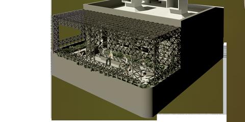طراحی فضای تراس و کلاس دوم مدرسه ی ابتدایی 6 کلاسه ی جیرفت (استودیو معماری دیدآ )