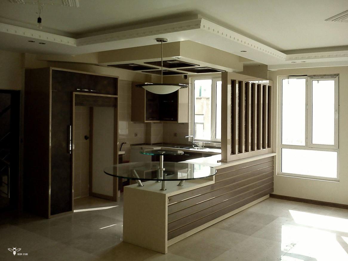 کابینت آشپزخانه مدرن - مدل کابینت آشپزخانه ی ایرانی ( استودیو معماری دیدآ )