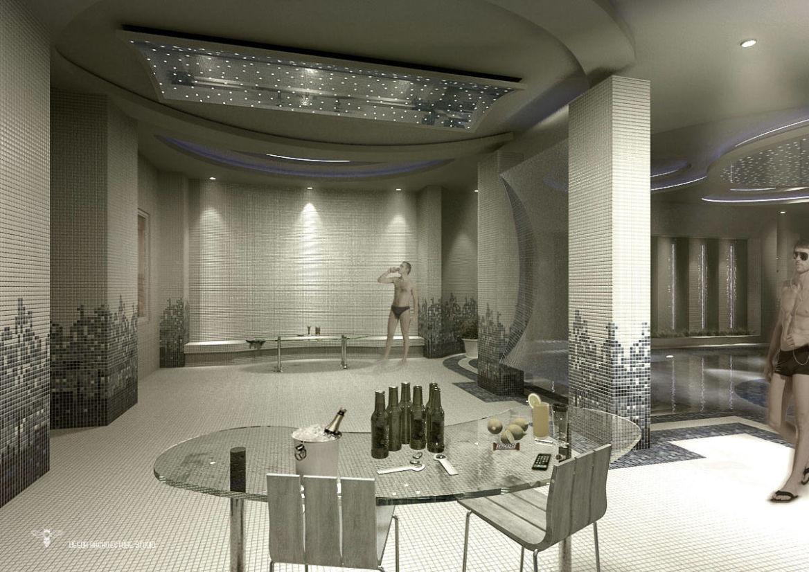 فضای ایجاد شده توسط تیم طراحی استودیو معماری دیدآ جهت استراحت و صرف نوشیدنی