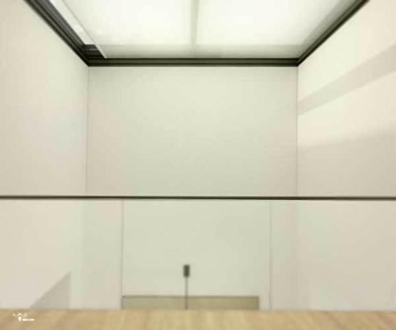 استفاده از سقف شیشه ای بازشو ی مکانیکال به همراه شید دو رول جهت سقف وید و مدیریت و کنترل آنها توسط پنل هوشمند نصب شده در فضای ناهار خوری طراحی شده توسط استودیو معماری دیدآ