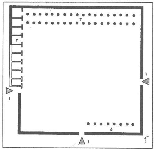 نقشه مسجد مدینه