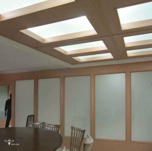 بستن فضای وید با پارتیشن چوبی ( استودیو معماری دیدآ )