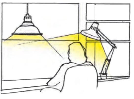 ترکیب نور موضعی و عمومی