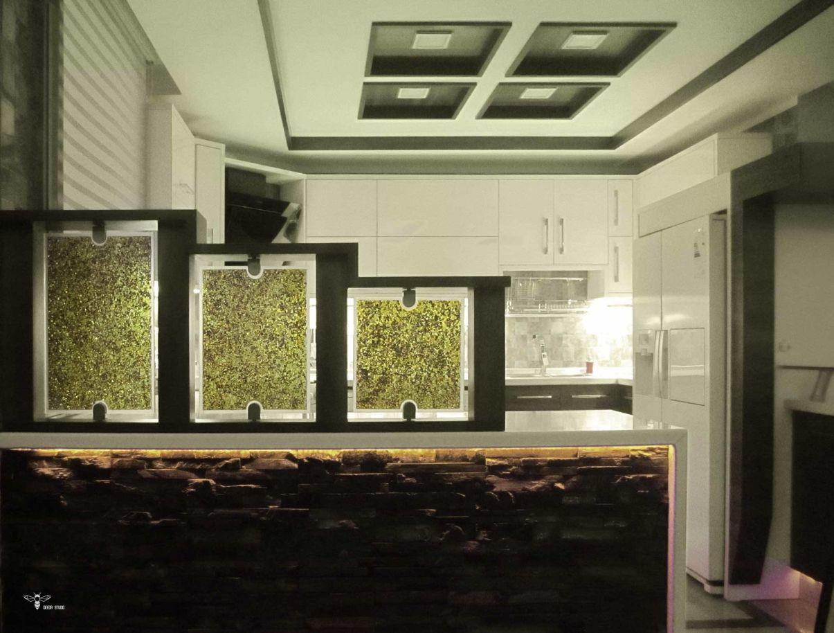 مدل کابینت و شیشه های فیوزینگ گلس طراحی شده جهت حفظ پرایوسی ( استودیو معماری دیدا )