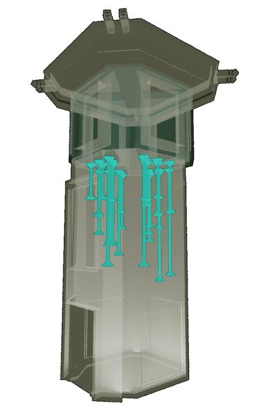استودیو معماری دیدآ : جهت ایجاد طنین هایی متفاوت ، و با سطوح مقطع ، طول ها و کوک های مختلف ، داخل لوله های فلزی ای با قطر ها ( وشکل ها ) و طول های مختلف ( با فرکانس های طبیعی متفاوت ) استفاده شده است ، به نحوی که جهت ایجاد رزونانس ، فرکانس صوتی طبیعی یک لوله با فرکانس طبیعی سیم های داخلش یا برابر بوده یا با مضارب صحیحی از آن یکسان باشد .