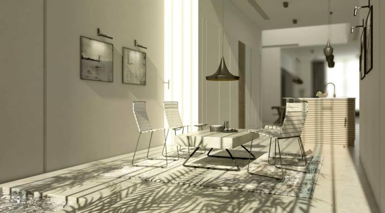 فضای گپ طراحی شده توسط استودیو معماری دیدآ در پروژه ی خانه ایی برای یک خانواده