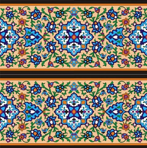 نمونه ای از کاشی هفت رنگ
