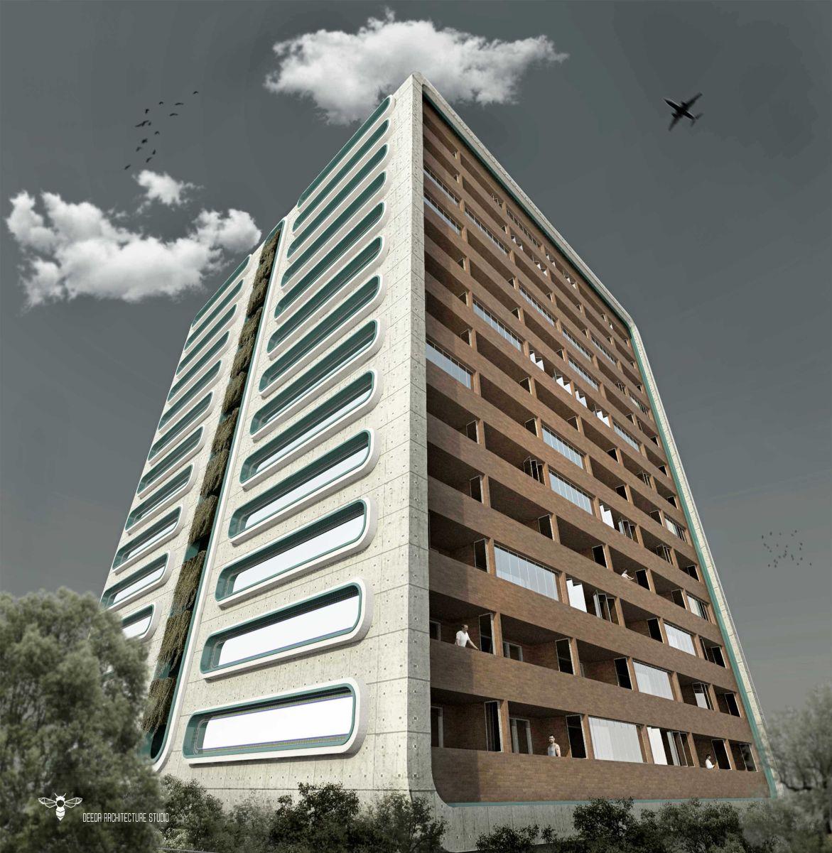 طراحی برج مسکونی نگار طراحی شده توسط استودیو معماری دیدآ