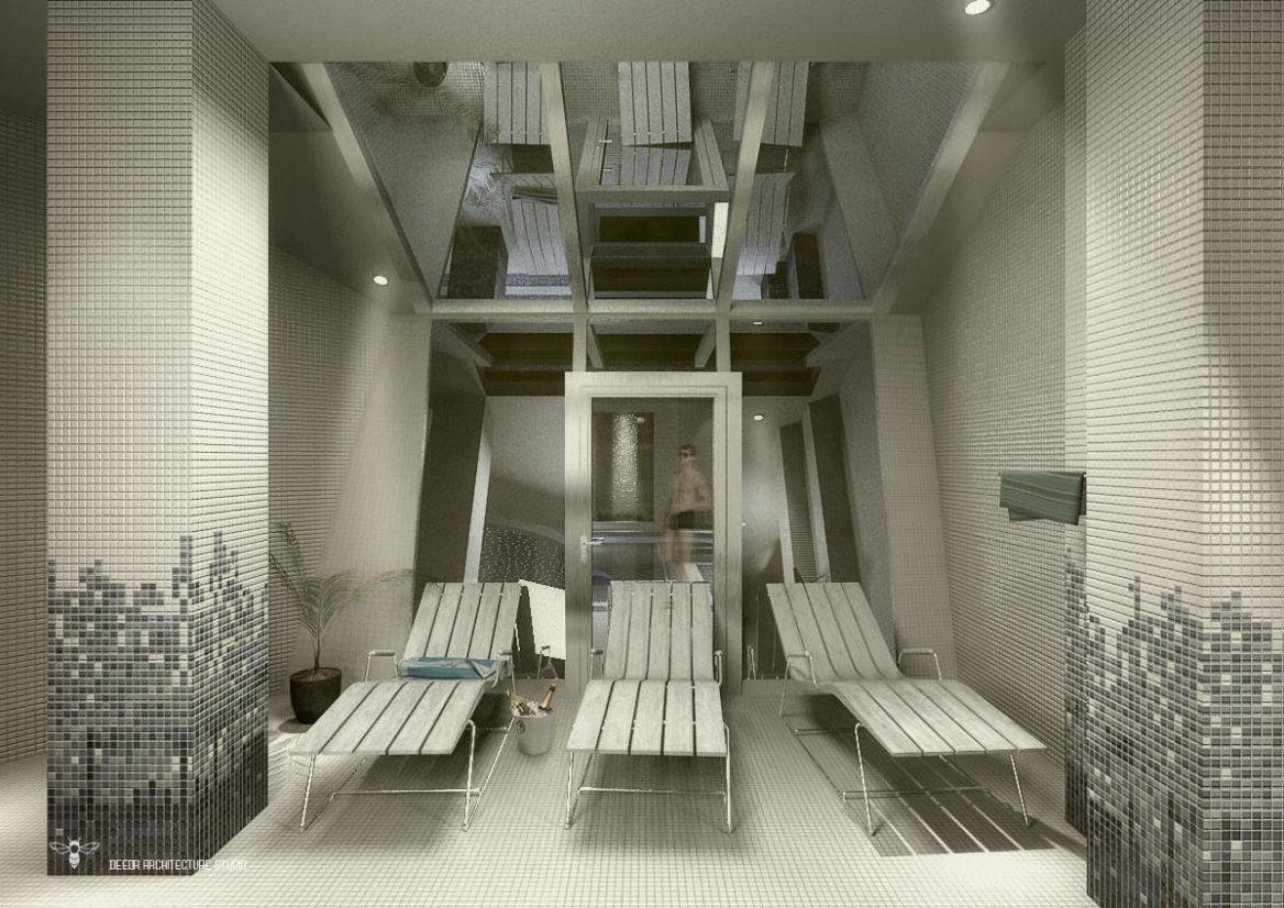 فضای ایجاد شده جهت آفتاب گیری توسط استودیو معماری دیدآ با دماغه دادن به استراکچر فلزی سمت حیاط .