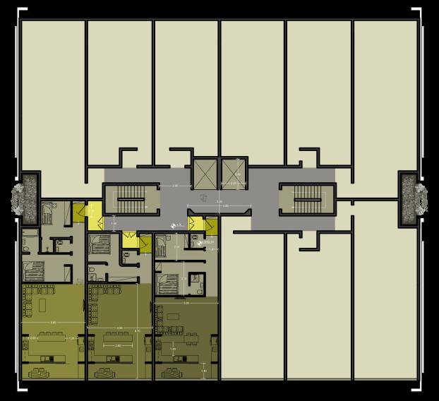 نقشه برج مسکونی نگار - پلان برج مسکونی ( استودیو معماری دیدآ )- دانلود پلان مدولار
