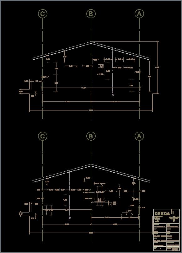 نقشه ی نمای ساخت ویلا دوبلکس - استودیو معماری دیدآ