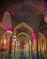 شیراز، مسجد نصیر الملک، گره سازی رنگی