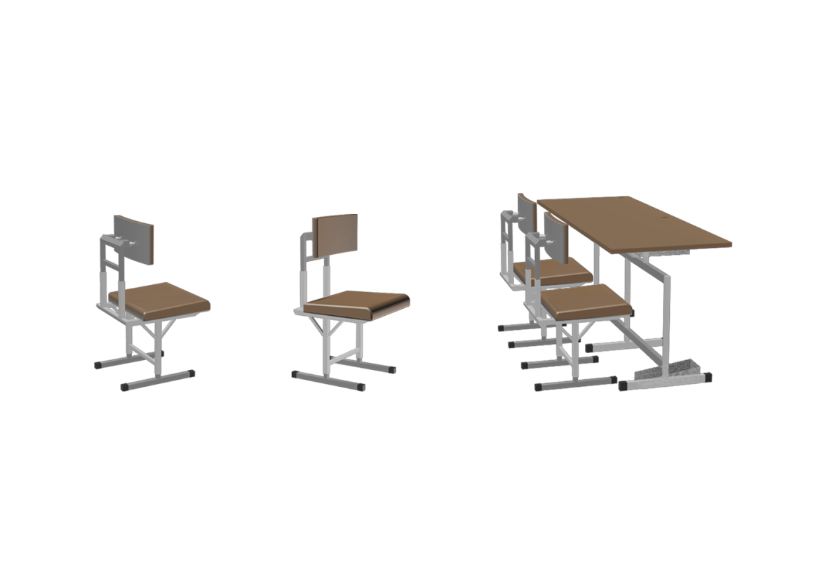 میز و صندلی طراحی شده توسط استودیو معماری دیدآ جهت ساخت مدرسه ی 6 کلاسه ی جیرفت