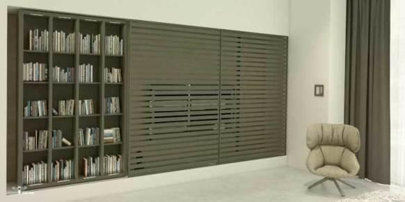 طراحی منحصر به فرد بخش کتابخانه و tv توسط استودیو معماری دیدآ