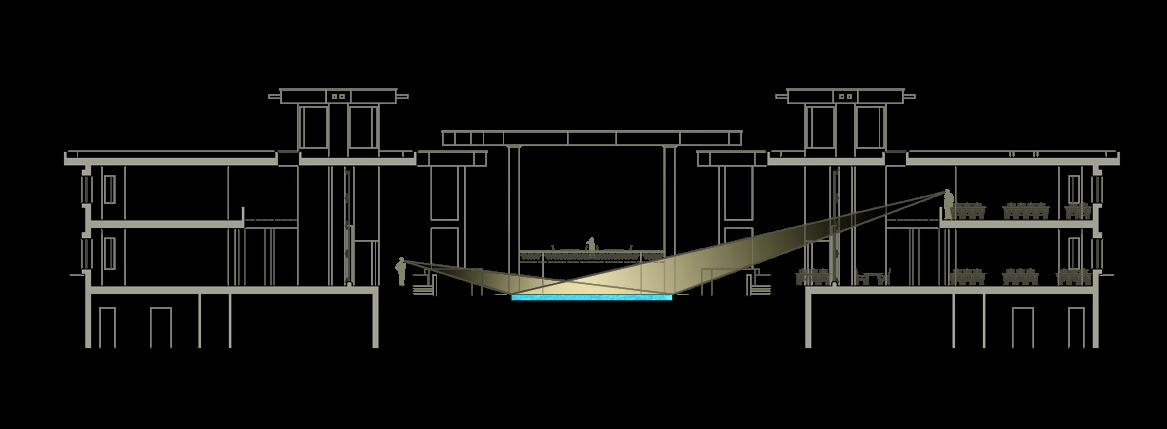 استودیو معماری دیدآ : استفاده از طرح زیلوی یزد در حوض بزرگ محوطه ی میانی