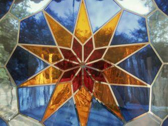 شیشه ی رنگی سند بلاست ساخته شده توسط استودیو معماری دیدآ