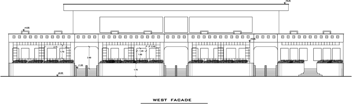طراحی مدرسه ی ابتدایی نمای روبرو ( استودیو معماری دیدآ )