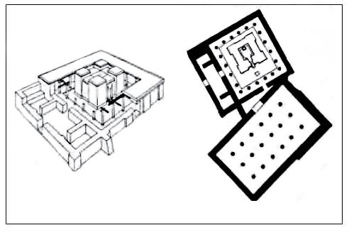 پلان و سه بعدی یک معبد ارارتو