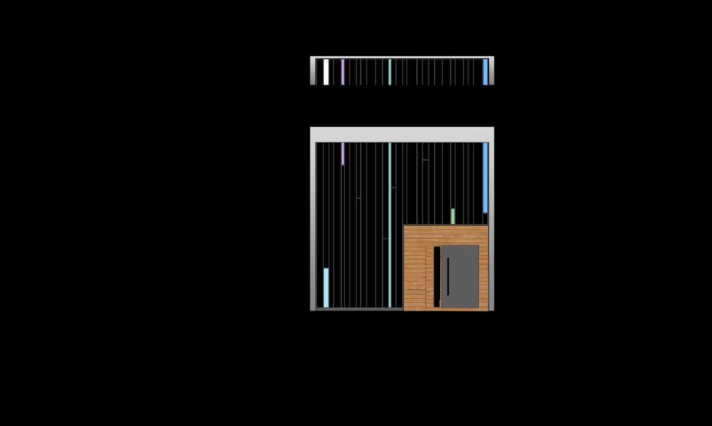استودیو معماری دیدآ - طراحی معماری خانه ایی برای یک خانوده - پلان برش