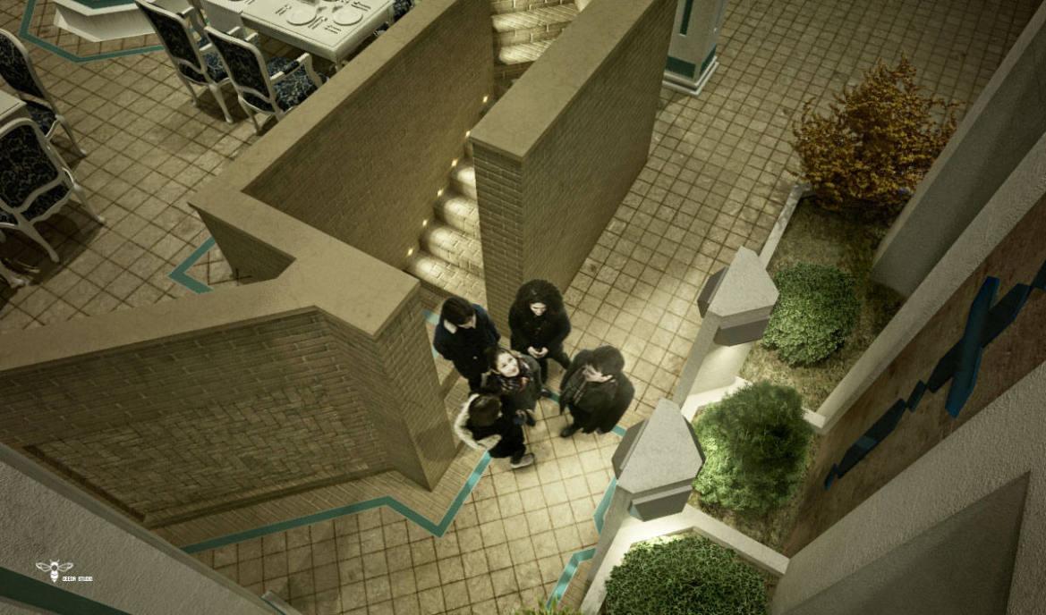 شاه نشین و فضای وی آی پی رستوران های نوای کویر یزد طراحی شده توسط استودیو معماری دیدآ