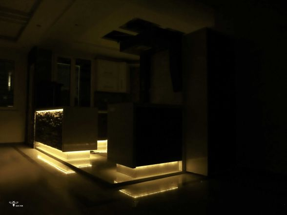 نورپردازی زیرکابینتی انبه ای در طراحی کابینت آشپزخانه ( استودیو معماری دیدا )