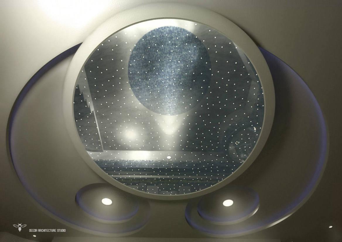 استودیو معماری دیدآ : پوشش کشسان باریسول جهت سقف کاذب دایره ای شکل
