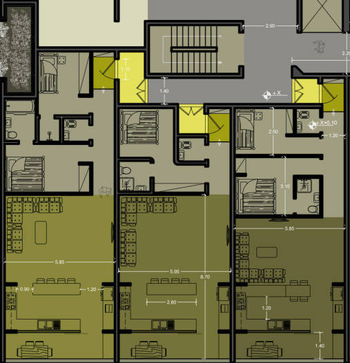 نقشه برج مسکونی نگار - طراحی برج مسکونی فوق مدرن در تهران - استودیو معماری دیدآ- دانلود پلان مدولار