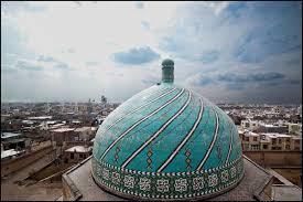 قزوین، گنبد مسجد جامع، کاشی فیروزه ای