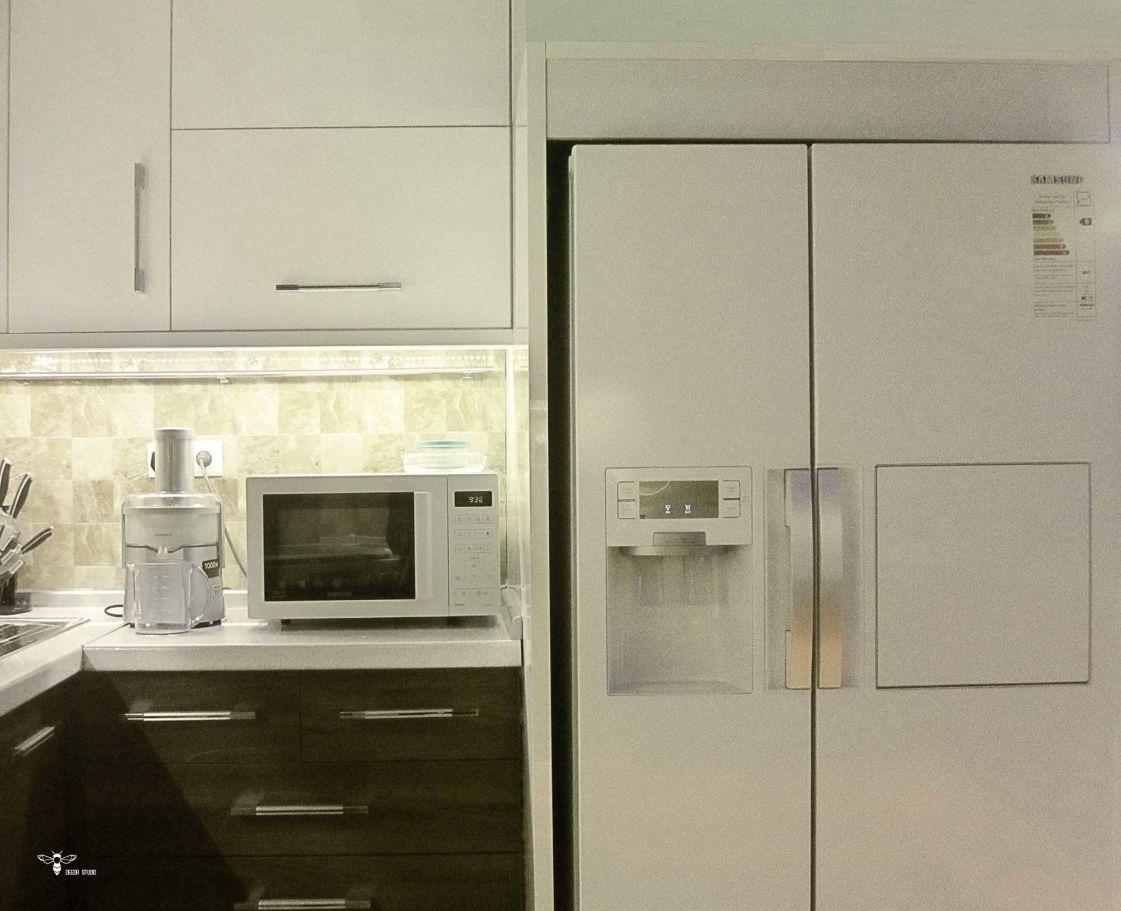 طراحی باکس یخچال در کابینت آشپزخانه ( استودیو معماری دیدا )