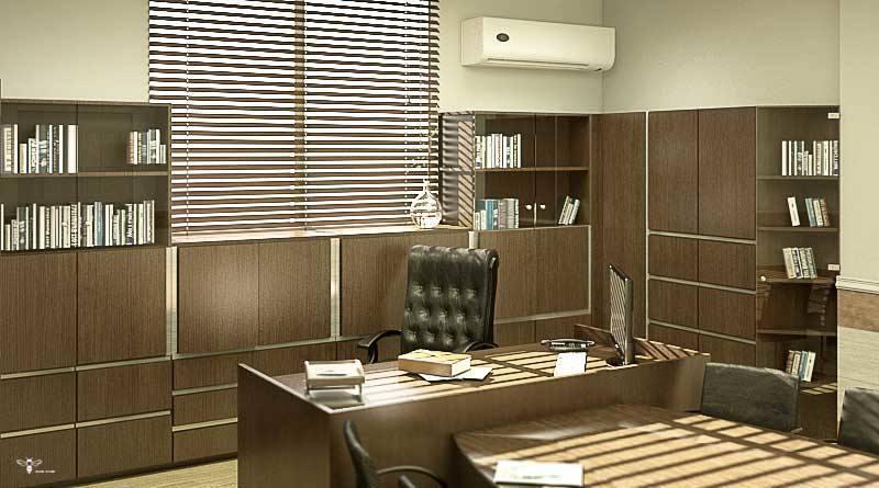 طراحی کتابخانه و کمد اداری ( استودیو معماری دیدا )