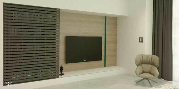 جمع شو و بازشو قسمت tv room طراحی شده توسط استودیو معماری دیدآ