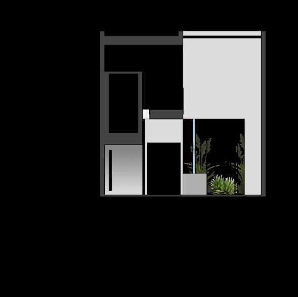 استودیو معماری دیدآ - طراحی معماری خانه ایی برای یک خانواده - پلان برش