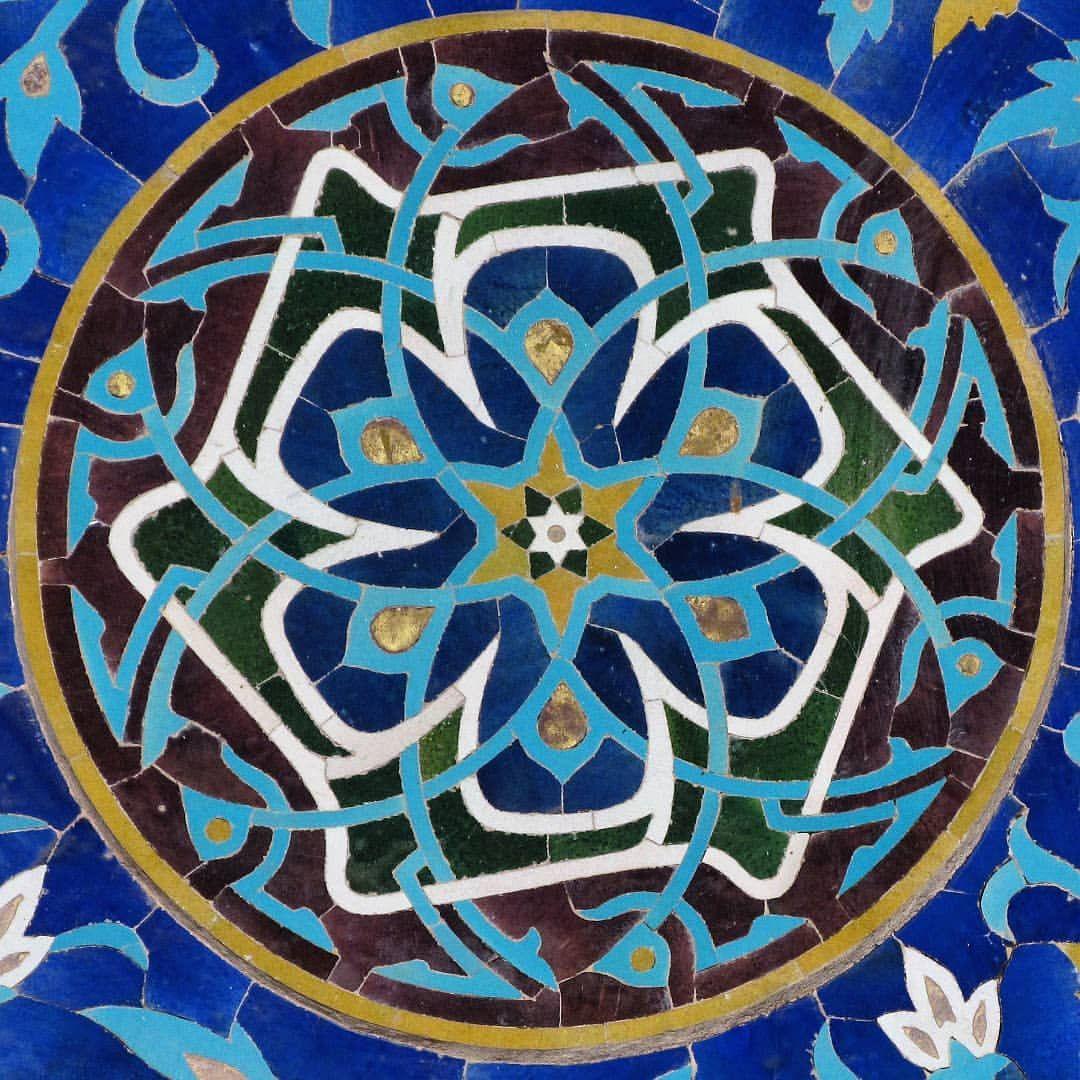 یزد، مسجد جامع،کاشی معرق