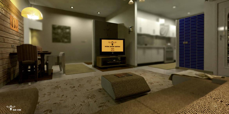 طراحی داخلی یک سوییت 60 متر مربعی ( استودیو معماری دیدآ )