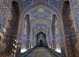 اصفهان مسیر ورود به شبستان در مسجد شیخ لطف الله
