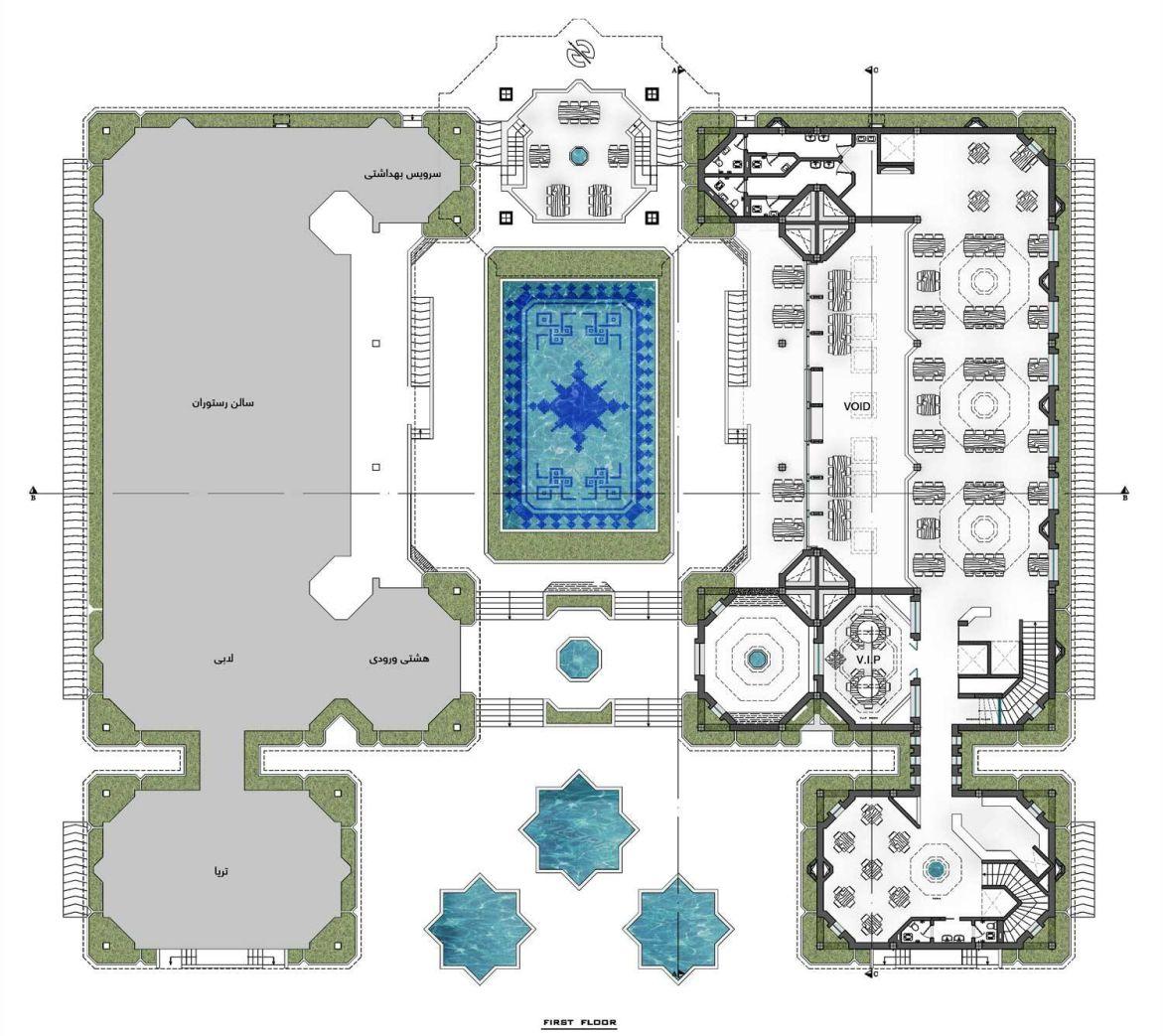 استودیو معماری دیدآ : پلان رستوران های نوای کویر