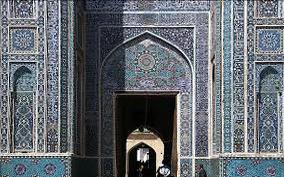 یزد، مسجد جامع، آجر مهری