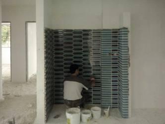 آجر لعابی آبی رنگ - طراحی ویلا مدرن ( استودیو معماری دیدآ )